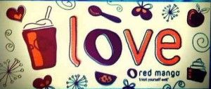 Red Mango / Love Sticker