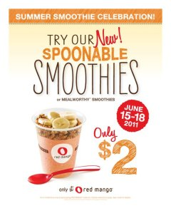 Red Mango / Spoonable and Mealworthy Smoothies Promotion