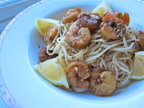 Shrimp Pasta with Lemon